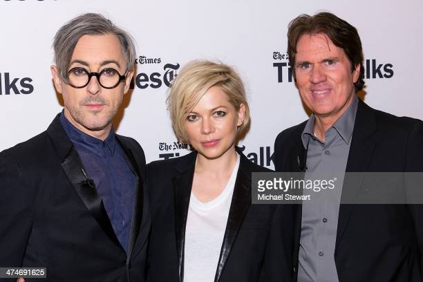 Actor Alan Cumming actress Michelle Williams and director Rob Marshall attend TimesTalk Presents An Evening With 'Cabaret' at TheTimesCenter on...