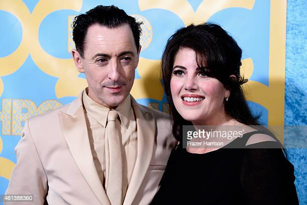 Actor Alan Cumming and Monica Lewinsky attend HBO's Post 2015 Golden Globe Awards Party at Circa 55 Restaurant on January 11 2015 in Los Angeles...