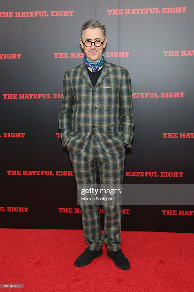 Actor Alan Cumming attends the The New York Premiere Of 'The Hateful Eight' on December 14, 2015 in New York City.