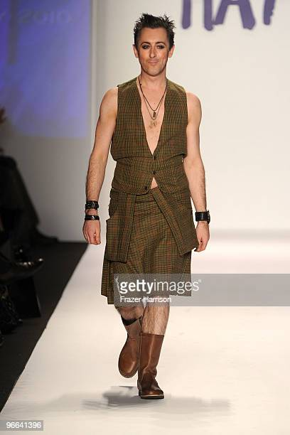 Actor Alan Cumming walks the runway at Naomi Campbell's Fashion For Relief Haiti Fall 2010 Fashion Show during the MercedesBenz Fashion Week Fall...