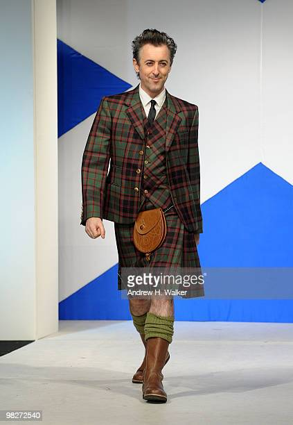 Actor Alan Cumming walks the runway at the 8th annual 'Dressed To Kilt' Charity Fashion Show presented by Glenfiddich at M2 Ultra Lounge on April 5...