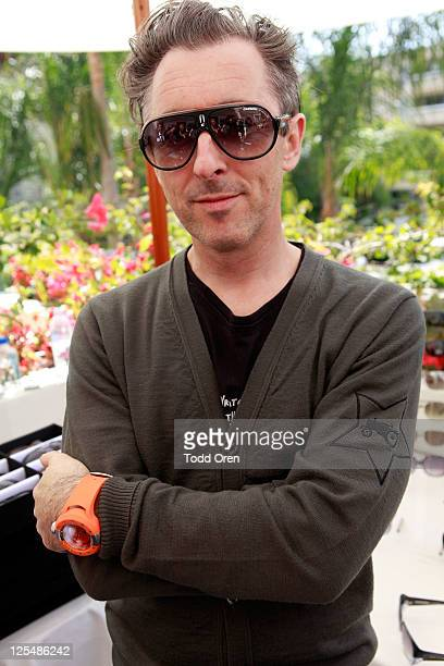 Actor Alan Cumming with Carrera Speedway sunglasses at the SOLSTICE and Safilo USA booth during HBO Luxury Lounge in honor of the 63rd Primetime Emmy...