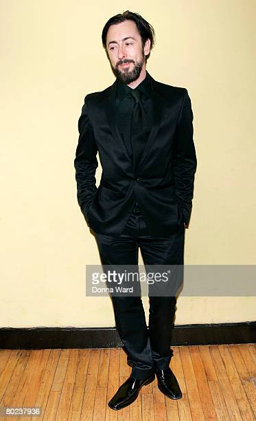 """Actor Alan Cummings poses before attending the after-party for """"The Seagull"""" at Pangea on March 13, 2008 in New York City."""