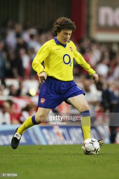 Actor Alan Davies during the Half time Celebrity Match during the Martin Keown Testimonial match between Arsenal and England XI at Highbury on May 17...