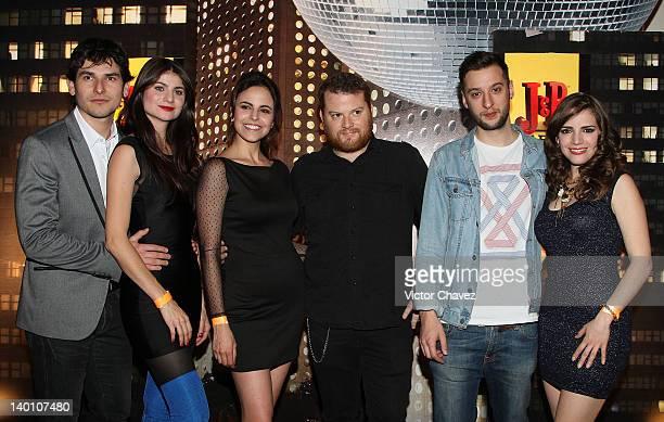 Actor Alan Estrada actresses Maria Aura and Alejandra Ambrosi Pato Watson producer/remixer and DJ Russ Chimes and actresses Elizabeth Valdez attend...