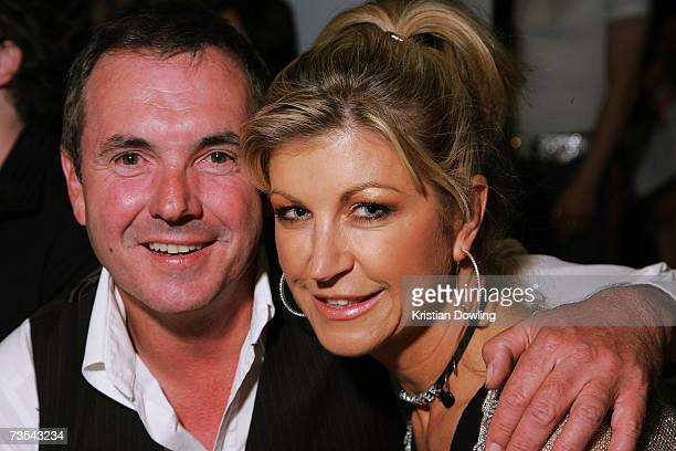Actor Alan Fletcher and wife and TV Personality Jennifer Hanson attend the Independent Runway By Mini show on the sixth and final day of the L'Oreal...