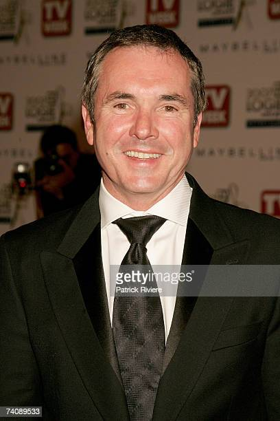 Actor Alan Fletcher arrives at the 2007 TV Week Logie Awards at the Crown Casino on May 6 2007 in Melbourne Australia The annual television awards...
