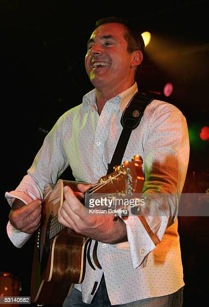 Actor Alan Fletcher performs at the Neighbours Rocks for AIDS Fundraiser June 23 2005 at the Palace in Melbourne Australia