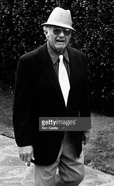 Actor Alan Hale Jr attends Jim Davis Memorial Service on May 1 1981 at Forest Lawn Memorial Park in Glendale California