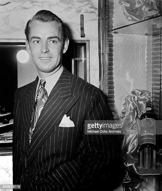Actor Alan Ladd poses in Los Angeles, California.