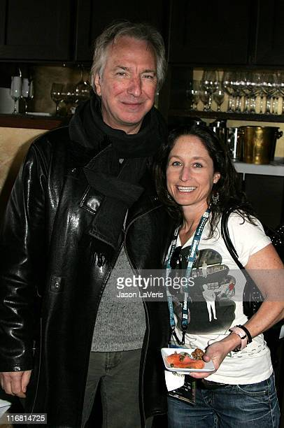 Actor Alan Rickman and Jody Savin attend the Writers Guild of America Reception at the Jean Louis Restaurant during the 2008 Sundance Film Festival...