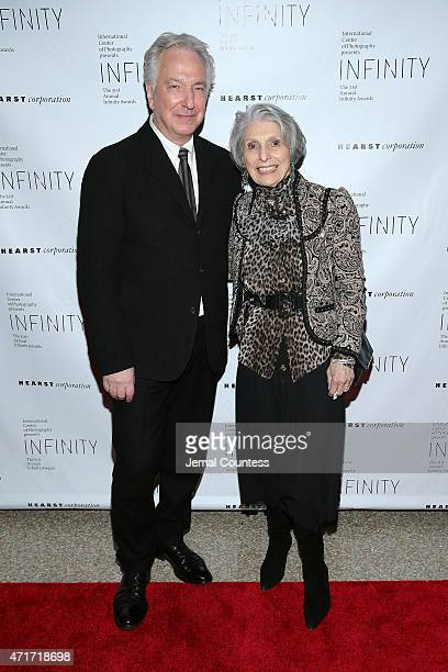 Actor Alan Rickman and Pat Schoenfeld attend the International Center of Photography 31st annual Infinity Awards at Pier Sixty at Chelsea Piers on...