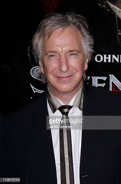 Actor Alan Rickman arrives at the 'Sweeney Todd The Demon Barber of Fleet Street' premiere at the Ziegfeld Theater on December 3 2007 in New York City
