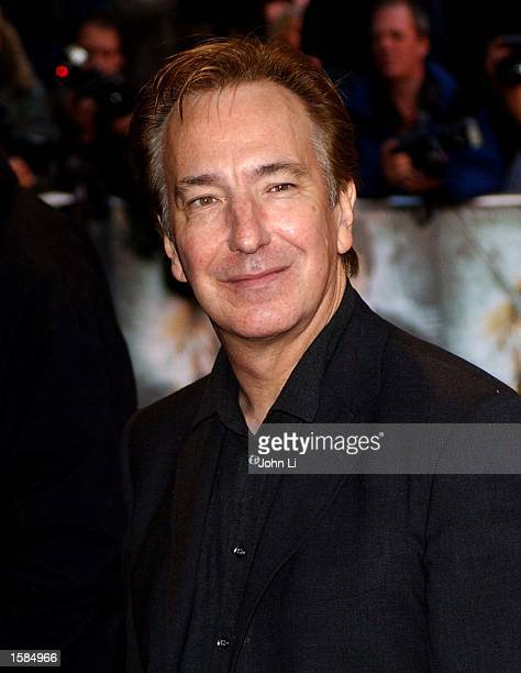 Actor Alan Rickman arrives for the world premiere of 'Harry Potter and the Chamber of Secrets' at the Odeon Leicester Square November 3 2002 in London