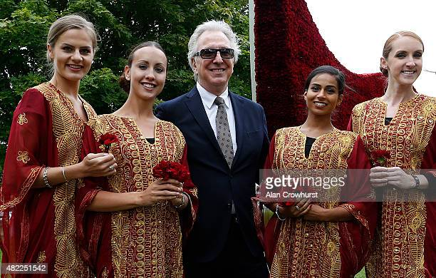 Actor Alan Rickman at Goodwood racecourse on July 29 2015 in Chichester England