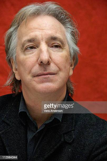 Actor Alan Rickman at Sweeney Todd The Demon Barber of Fleet Street press conference at Claridges Hotel in London England on November 26 2007