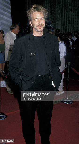Actor Alan Rickman attending the premiere of Die Hard on July 12 1988 at the Avco Cinema in Westwood California