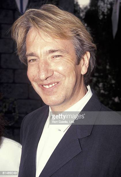 Actor Alan Rickman attending the premiere of 'Robin HoodPrince of Thieves' on June 10 1991 at Mann Village Theater in Westwood California
