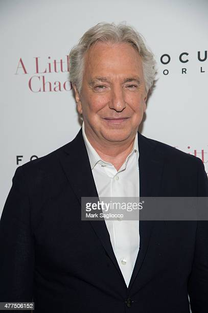"""Actor Alan Rickman attends """"A Little Chaos"""" New York Premiere at the Museum of Modern Art on June 17, 2015 in New York City."""