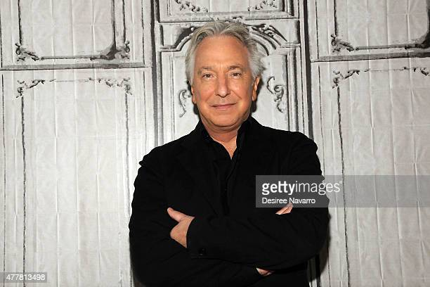 Actor Alan Rickman attends AOL Build Speaker Series Presents Alan Rickman at AOL Studios In New York on June 19 2015 in New York City