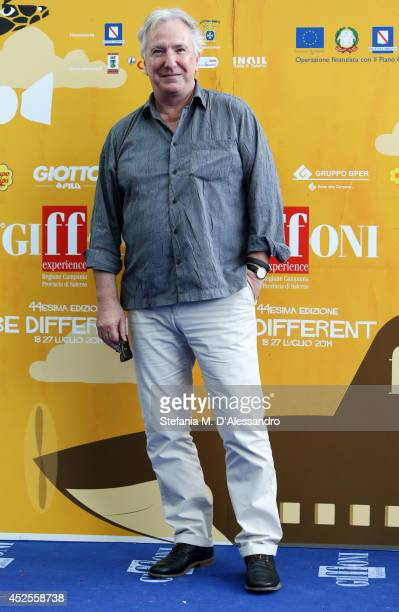 Actor Alan Rickman attends Giffoni Film Festival photocall on July 23 2014 in Giffoni Valle Piana Italy