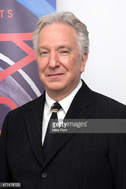Actor Alan Rickman attends the 2015 Karen Gala at BAM Howard Gilman Opera House on April 28 2015 in New York City