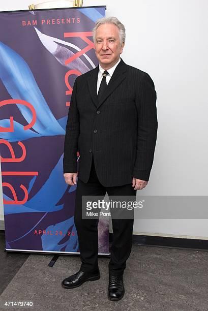 Actor Alan Rickman attends the 2015 Karen Gala at BAM Howard Gilman Opera House on April 28 2015 in New York City