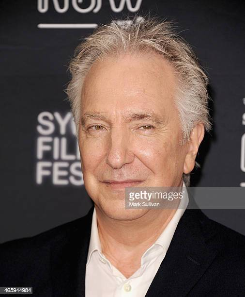 Actor Alan Rickman attends the Australian premiere of 'A Little Chaos' presented by the Sydney Film Festival and Spectrum Now at The Cremorne Orpheum...