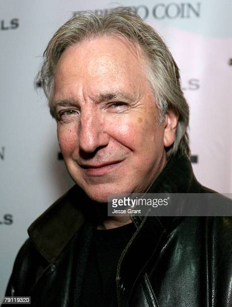 Actor Alan Rickman attends the Bon Appetit Supper Club 'Bottle Shock' after party at the Bon Appetit Supper Club on January 18 2008 in Park City Utah