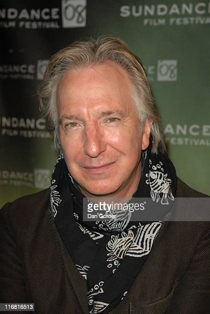 """Actor Alan Rickman attends the """"Bottle Shock"""" Press Conference at Yarrow during the 2008 Sundance Film Festival on January 19, 2008 in Park City,..."""