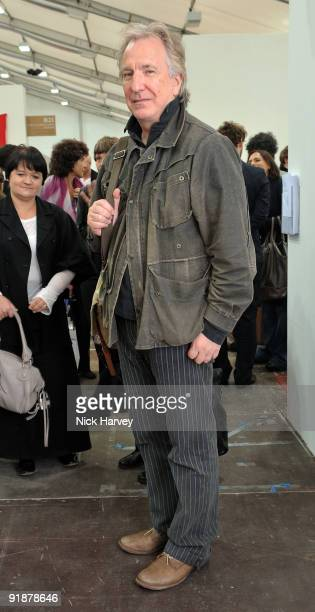 Actor Alan Rickman attends the Frieze Art Fair private view at Regent's Park on October 14 2009 in London England