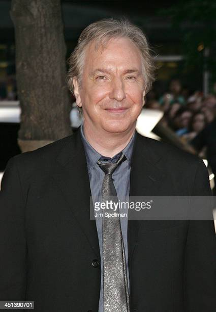Actor Alan Rickman attends the Harry Potter and the HalfBlood Prince premiere at Ziegfeld Theatre on July 9 2009 in New York City