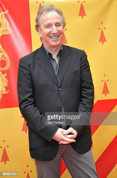 Actor Alan Rickman attends the 'Harry Potter and the HalfBlood Prince' film premiere at the Odeon Leicester Square on July 7 2009 in London England