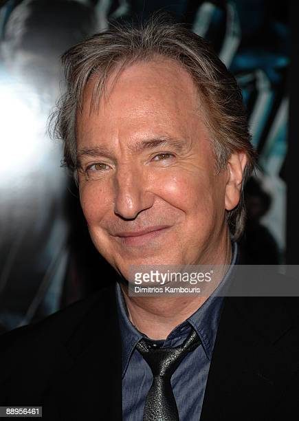 Actor Alan Rickman attends the 'Harry Potter and the HalfBlood Prince' premiere at Ziegfeld Theatre on July 9 2009 in New York City