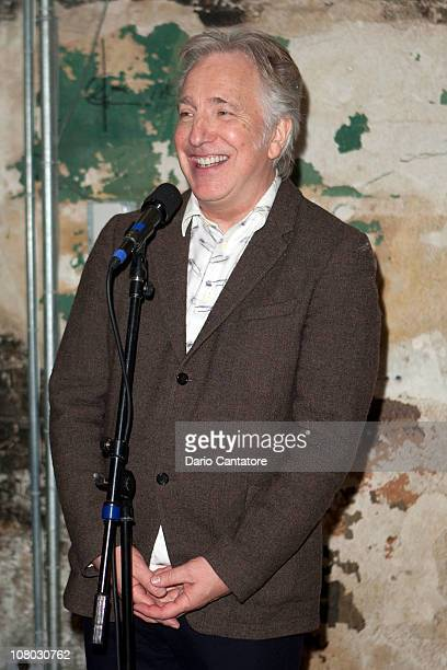 Actor Alan Rickman attends the 'John Gabriel Borkman' after party at the Brooklyn Academy of Music on January 13 2011 in New York City