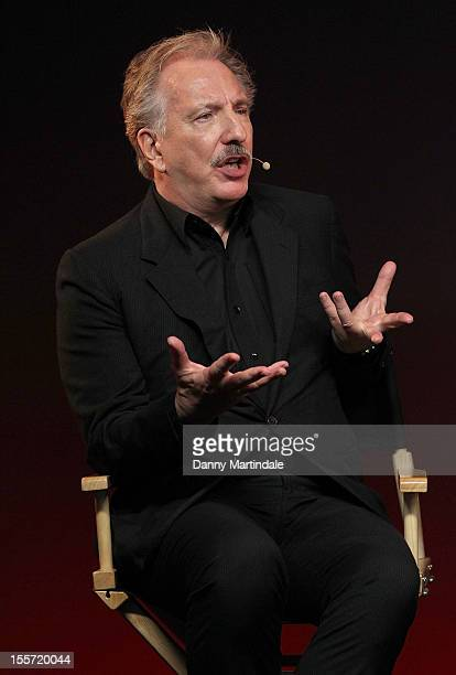 Actor Alan Rickman attends the Meet The Filmmakers event for Gambit at Apple Store, Regent Street on November 7, 2012 in London, England.