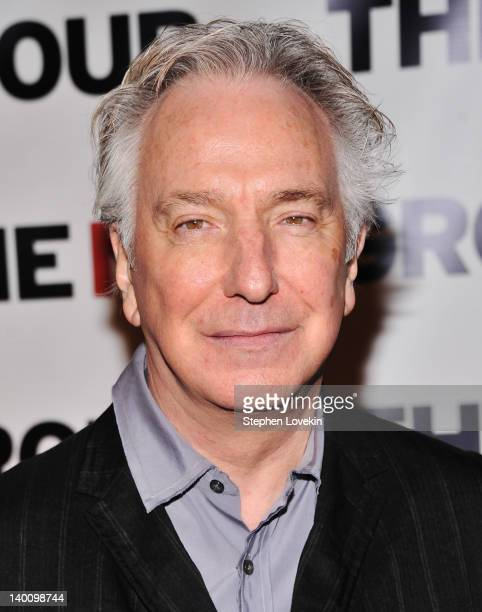 Actor Alan Rickman attends the New Group Gala 2012 Cabaret Soiree at The Edison Ballroom on February 27 2012 in New York City