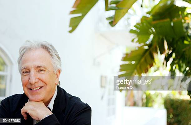 Actor Alan Rickman is photographed for Los Angeles Times on June 22 2015 in Los Angeles California PUBLISHED IMAGE CREDIT MUST READ Francine Orr/Los...