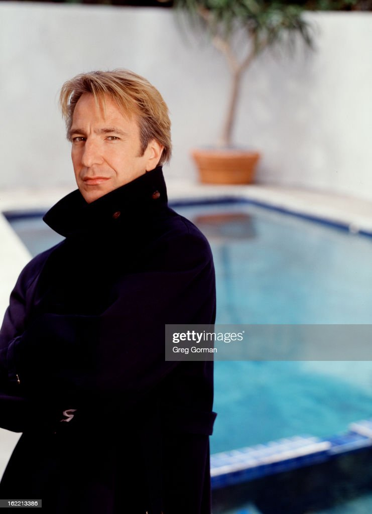 Actor Alan Rickman is photographed for Self Assignment on January 1, 1991 in Los Angeles, California.