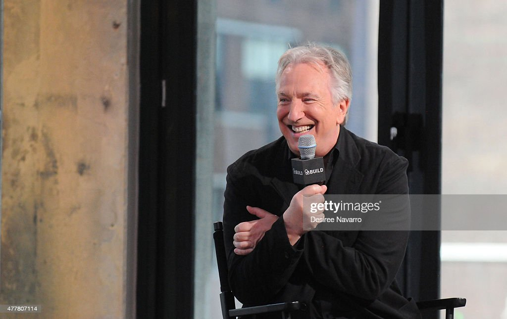 Actor Alan Rickman speaks about his film 'A Little Chaos' during AOL Build Speaker Series at AOL Studios In New York on June 19, 2015 in New York City.