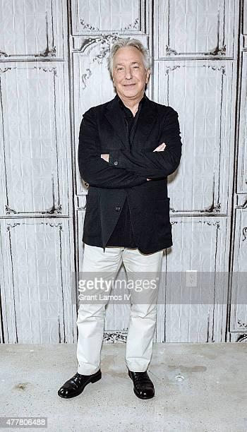 Actor Alan Rickman speaks at AOL Build Speaker Series at AOL Studios In New York on June 19 2015 in New York City