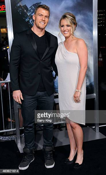 Actor Alan Ritchson and wife Catherine Ritchson attend the premiere of 'Project Almanac' at TCL Chinese Theatre on January 27 2015 in Hollywood...