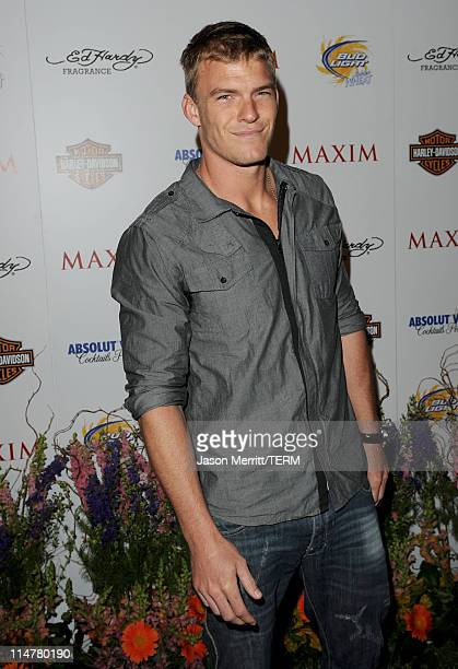 Actor Alan Ritchson arrives at the 11th annual Maxim Hot 100 Party with HarleyDavidson ABSOLUT VODKA Ed Hardy Fragrances and ROGAINE held at...