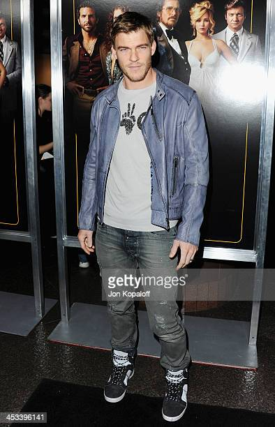 Actor Alan Ritchson arrives at the Los Angeles Premiere 'American Hustle' at Directors Guild Theatre on December 3 2013 in West Hollywood California