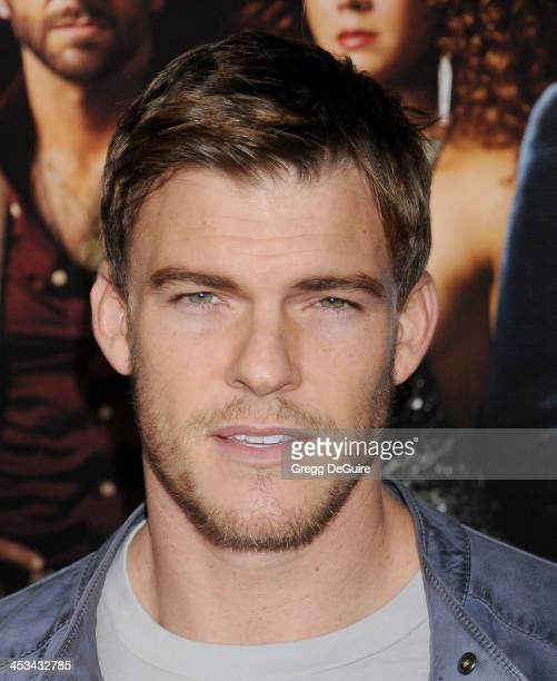 Actor Alan Ritchson arrives at the Los Angeles premiere of 'American Hustle' at Directors Guild Theatre on December 3 2013 in West Hollywood...