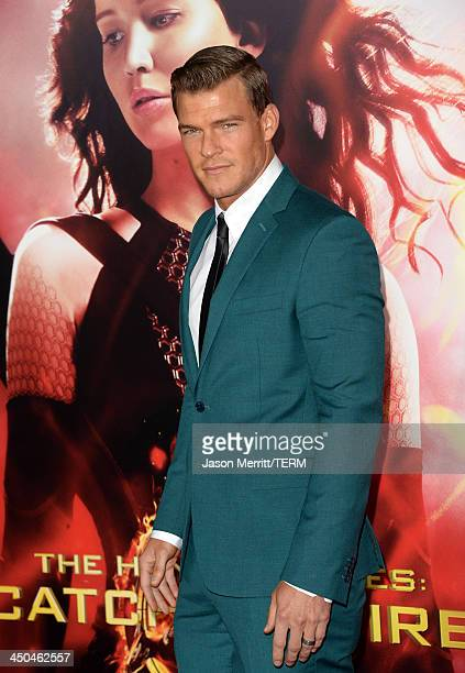 Actor Alan Ritchson arrives at the premiere of Lionsgate's 'The Hunger Games Catching Fire' at Nokia Theatre LA Live on November 18 2013 in Los...