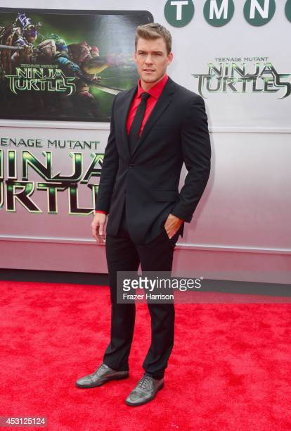 Actor Alan Ritchson attends Paramount Pictures' 'Teenage Mutant Ninja Turtles' premiere at Regency Village Theatre on August 3 2014 in Westwood...