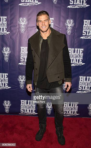 Actor Alan Ritchson attends the 'Blue Mountain State The Rise of Thadland' New York Premeire at Landmark's Sunshine Cinema on February 3 2016 in New...