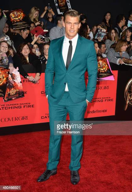 Actor Alan Ritchson attends the premiere of Lionsgate's 'The Hunger Games Cathching Fire' at Nokia Theatre LA Live on November 18 2013 in Los Angeles...
