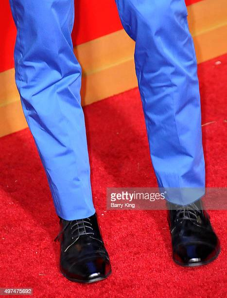 Actor Alan Ritchson shoe detail attends Premiere Of Lionsgate's 'The Hunger Games Mockingjay Part 2' at Microsoft Theater on November 16 2015 in Los...
